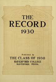 Page 7, 1930 Edition, Haverford College - Record Yearbook (Haverford, PA) online yearbook collection
