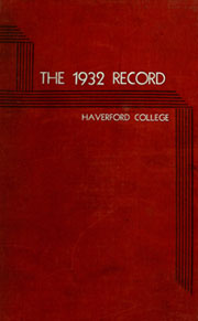 Page 1, 1932 Edition, Haverford College - Record Yearbook (Haverford, PA) online yearbook collection