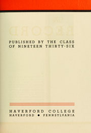 Page 9, 1936 Edition, Haverford College - Record Yearbook (Haverford, PA) online yearbook collection
