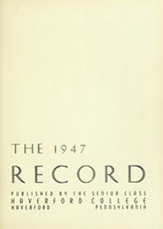 Page 5, 1947 Edition, Haverford College - Record Yearbook (Haverford, PA) online yearbook collection