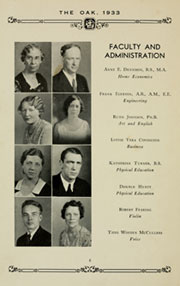 Page 10, 1933 Edition, Louisburg College - Oak Yearbook (Louisburg, NC) online yearbook collection
