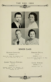 Page 17, 1933 Edition, Louisburg College - Oak Yearbook (Louisburg, NC) online yearbook collection