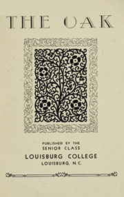 Page 7, 1933 Edition, Louisburg College - Oak Yearbook (Louisburg, NC) online yearbook collection