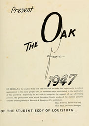 Page 7, 1947 Edition, Louisburg College - Oak Yearbook (Louisburg, NC) online yearbook collection