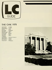 Page 6, 1978 Edition, Louisburg College - Oak Yearbook (Louisburg, NC) online yearbook collection