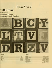 Page 5, 1980 Edition, Louisburg College - Oak Yearbook (Louisburg, NC) online yearbook collection