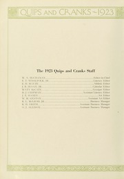 Page 10, 1923 Edition, Davidson College - Quips and Cranks Yearbook (Davidson, NC) online yearbook collection