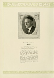 Page 16, 1923 Edition, Davidson College - Quips and Cranks Yearbook (Davidson, NC) online yearbook collection