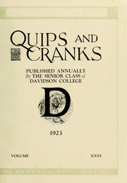Page 5, 1923 Edition, Davidson College - Quips and Cranks Yearbook (Davidson, NC) online yearbook collection