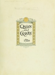 Page 7, 1926 Edition, Davidson College - Quips and Cranks Yearbook (Davidson, NC) online yearbook collection