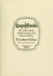 Page 9, 1929 Edition, Davidson College - Quips and Cranks Yearbook (Davidson, NC) online yearbook collection