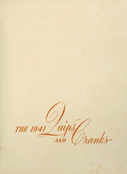 Page 5, 1941 Edition, Davidson College - Quips and Cranks Yearbook (Davidson, NC) online yearbook collection