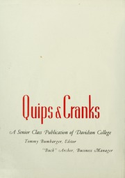 Page 6, 1947 Edition, Davidson College - Quips and Cranks Yearbook (Davidson, NC) online yearbook collection