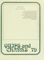 Page 5, 1979 Edition, Davidson College - Quips and Cranks Yearbook (Davidson, NC) online yearbook collection