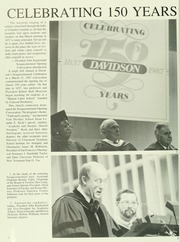 Page 10, 1987 Edition, Davidson College - Quips and Cranks Yearbook (Davidson, NC) online yearbook collection