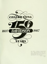 Page 5, 1987 Edition, Davidson College - Quips and Cranks Yearbook (Davidson, NC) online yearbook collection