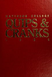 1988 Edition, Davidson College - Quips and Cranks Yearbook (Davidson, NC)