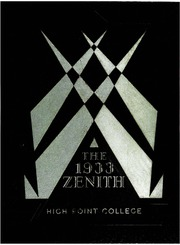 Page 1, 1933 Edition, High Point University - Zenith Yearbook (High Point, NC) online yearbook collection