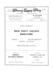 Page 142, 1955 Edition, High Point University - Zenith Yearbook (High Point, NC) online yearbook collection