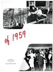 Page 7, 1959 Edition, High Point University - Zenith Yearbook (High Point, NC) online yearbook collection