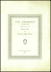 Page 5, 1923 Edition, Central High School - Girardot Yearbook (Cape Girardeau, MO) online yearbook collection