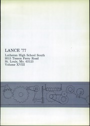 Page 5, 1977 Edition, Lutheran South High School - Lance Yearbook (St Louis, MO) online yearbook collection