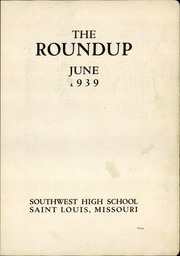Page 7, 1939 Edition, Southwest High School - Sachem Yearbook (Kansas City, MO) online yearbook collection