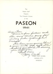 Page 7, 1941 Edition, Paseo High School - Paseon Yearbook (Kansas City, MO) online yearbook collection