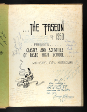 Page 5, 1950 Edition, Paseo High School - Paseon Yearbook (Kansas City, MO) online yearbook collection