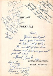 Page 7, 1965 Edition, Eureka High School - Eurekana Yearbook (Eureka, MO) online yearbook collection