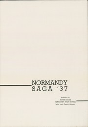 Page 5, 1937 Edition, Normandy High School - Saga Yearbook (Normandy, MO) online yearbook collection