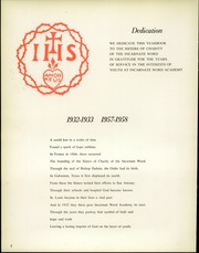 Page 8, 1958 Edition, Incarnate Word Academy - The Light Yearbook (St Louis, MO) online yearbook collection