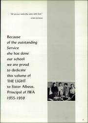Page 11, 1960 Edition, Incarnate Word Academy - The Light Yearbook (St Louis, MO) online yearbook collection