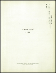 Page 5, 1936 Edition, John Burroughs School - Governor Yearbook (St Louis, MO) online yearbook collection