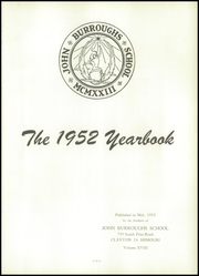 Page 5, 1952 Edition, John Burroughs School - Governor Yearbook (St Louis, MO) online yearbook collection