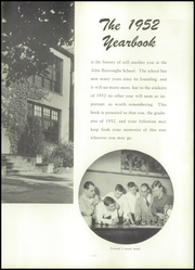 Page 7, 1952 Edition, John Burroughs School - Governor Yearbook (St Louis, MO) online yearbook collection