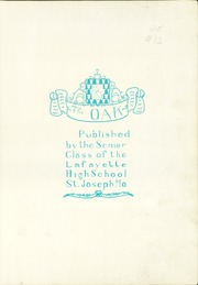 Page 5, 1926 Edition, Lafayette High School - Oak Yearbook (St Joseph, MO) online yearbook collection
