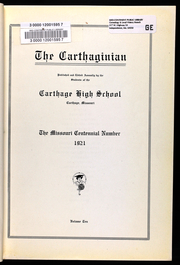 Page 13, 1921 Edition, Carthage High School - Carthaginian Yearbook (Carthage, MO) online yearbook collection