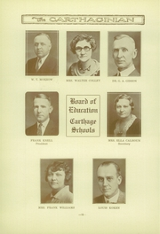 Page 14, 1933 Edition, Carthage High School - Carthaginian Yearbook (Carthage, MO) online yearbook collection