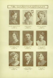 Page 16, 1933 Edition, Carthage High School - Carthaginian Yearbook (Carthage, MO) online yearbook collection