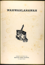 Page 5, 1949 Edition, Benton High School - Wahwahlanawah Yearbook (St Joseph, MO) online yearbook collection