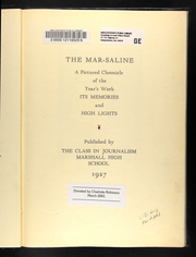 Page 9, 1927 Edition, Marshall High School - Marshaline Yearbook (Marshall, MO) online yearbook collection