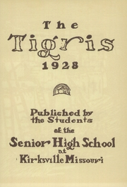 Page 9, 1928 Edition, Kirksville High School - Regit Yearbook (Kirksville, MO) online yearbook collection