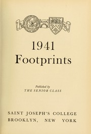 Page 7, 1941 Edition, St Josephs College - Footprints Yearbook (Brooklyn, NY) online yearbook collection