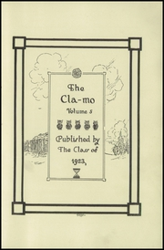 Page 5, 1923 Edition, Clayton High School - Clamo Yearbook (Clayton, MO) online yearbook collection