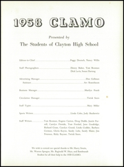 Page 5, 1958 Edition, Clayton High School - Clamo Yearbook (Clayton, MO) online yearbook collection