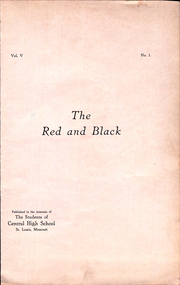 Page 5, 1922 Edition, Central High School - Red and Black Yearbook (St Louis, MO) online yearbook collection