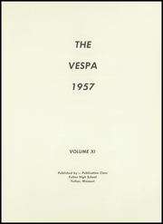 Page 5, 1957 Edition, Fulton High School - Vespa Yearbook (Fulton, MO) online yearbook collection
