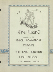 Page 5, 1947 Edition, Carl Junction High School - Knight Yearbook (Carl Junction, MO) online yearbook collection