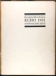 Page 5, 1931 Edition, Richmond High School - Echo Yearbook (Richmond, MO) online yearbook collection